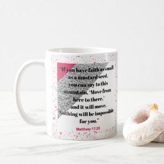 La foi aiment une tasse de vers de bible de graine