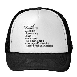 La foi est crédulité casquettes