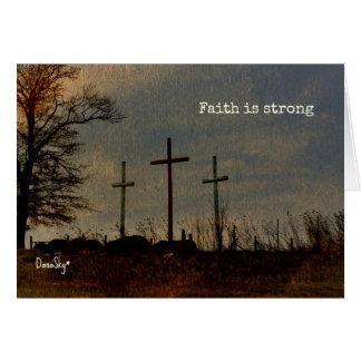 """La """"foi est"""" trois forts la carte inspirée croisée"""