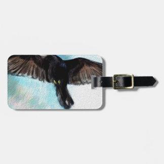 La foi est un corbeau étiquette pour bagages