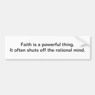 La foi est une chose puissante - adhésif pour pare adhésif pour voiture