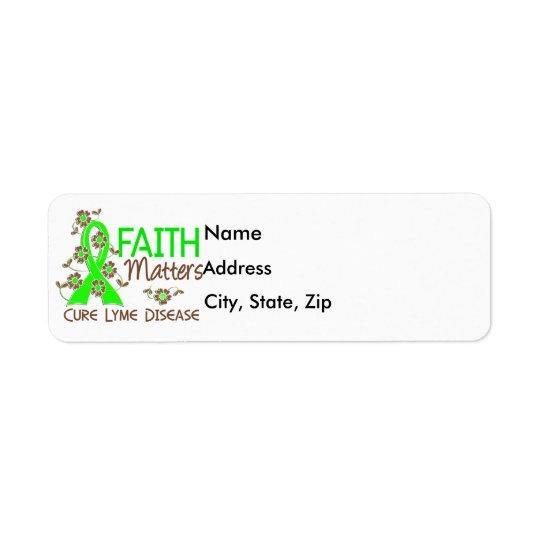 La foi importe la maladie de 3 Lyme Étiquette D'adresse Retour
