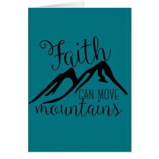 la foi peut déplacer des montagnes carte de vœux