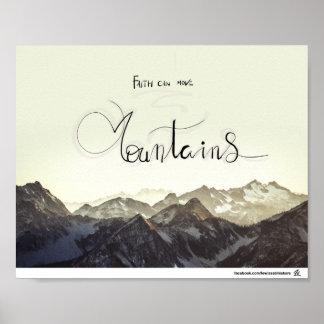 La foi peut déplacer des montagnes poster