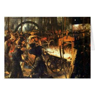 La fonderie - Adolph Von Menzel Cartes