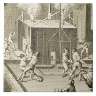 La fonderie d'un sculpteur, du 'DES S d'Encycloped Grand Carreau Carré