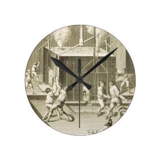 La fonderie d'un sculpteur, du 'DES S d'Encycloped Horloge Ronde
