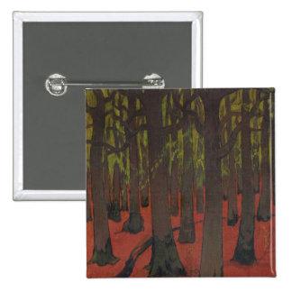La forêt avec la terre rouge, c.1891 pin's