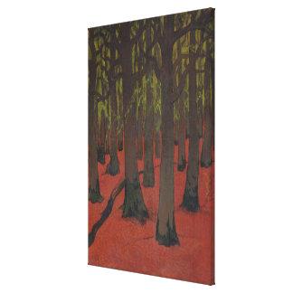 La forêt avec la terre rouge, c.1891 toiles
