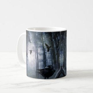 La forêt brumeuse rappelle tasse