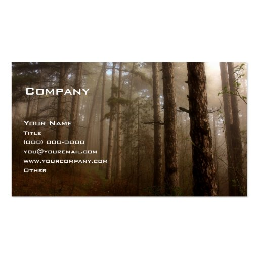 La forêt carte de visite