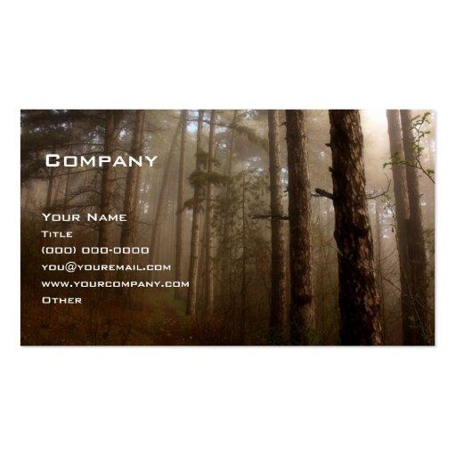 La forêt carte de visite standard
