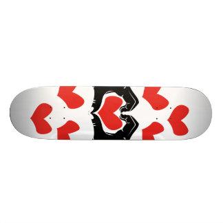 La forme de coeur remet l'illustration avec les skateboard 21,6 cm