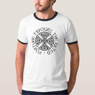 La fortune favorise l'en kilt t-shirt