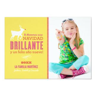 La Foto de Brillante Deseos de la Navidad Tarjeta Carton D'invitation 12,7 Cm X 17,78 Cm