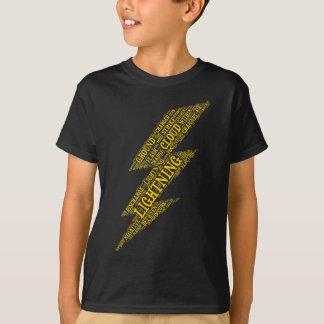 La foudre badine la verticale foncée de T-shirt