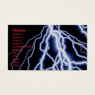 La foudre de catastrophes naturelles carde des cartes de visite