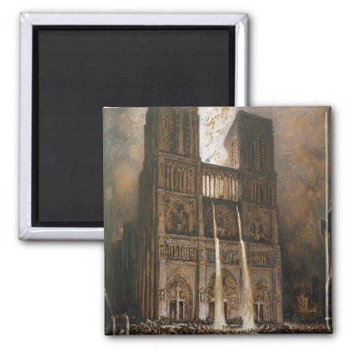 La foule assiégeant Notre-Dame Aimants