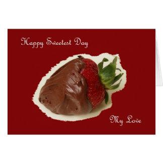 La fraise de chocolat de carte de jour la plus
