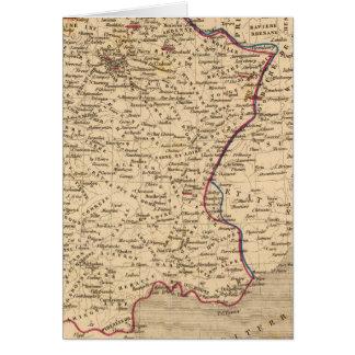 La France 1814 un 1840 Carte De Vœux
