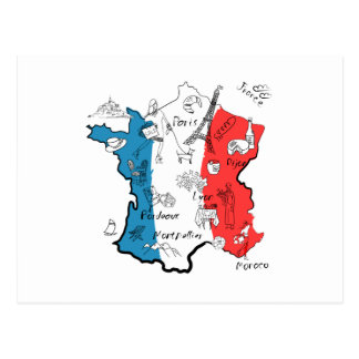 La France a illustré la carte Cartes Postales