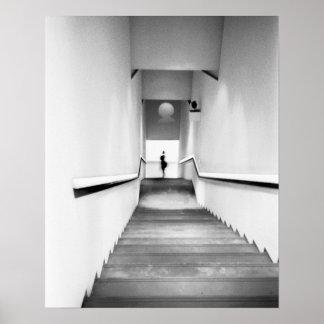 La France agréable, musée d'escalier d'art moderne Affiches