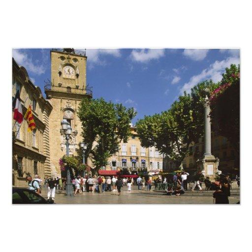 La France, Aix-en-Provence, La Place de la Maire Impressions Photographiques
