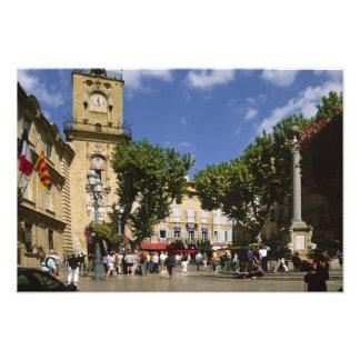 La France, Aix-en-Provence, La Place de la Maire Photo D'art