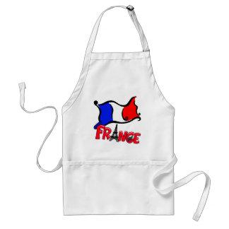 La France avec des produits de drapeau Tablier