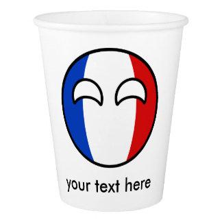 La France Countryball Gobelets En Papier