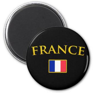 La France d'or Magnet Rond 8 Cm