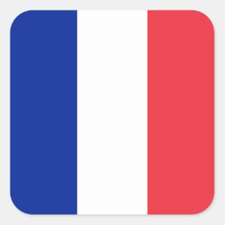 La France - drapeau national français Sticker Carré