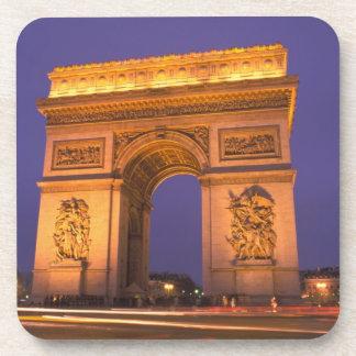 La France, Paris, Arc de Triomphe au crépuscule Sous-bock