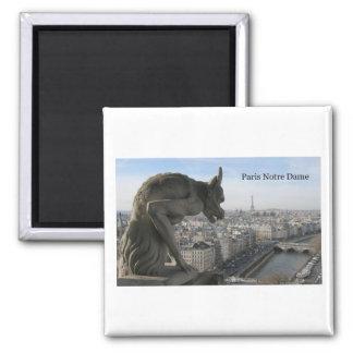 La France Paris Notre Dame (par St.K) Magnet Carré