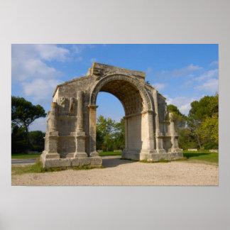 La France, St Remy De Provence, voûte triomphale Affiche