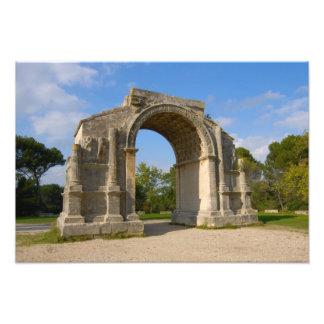 La France, St Remy De Provence, voûte triomphale Tirage Photo