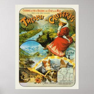 La France vintage, chemin de fer, Themes de Cauter Posters