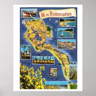 La France vintage, Ile de Noirmoutier Posters