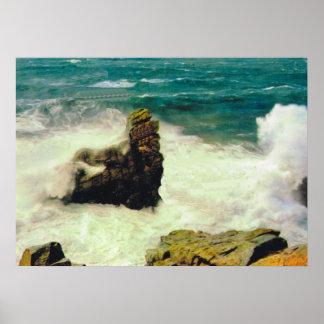 La France vintage, mer agitée chez Quiberon Poster