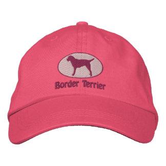 La frontière Terrier ovale a brodé le casquette