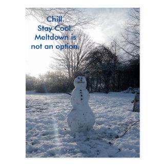 La fusion froide de bonhomme de neige n'est pas carte postale