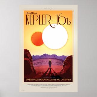 La future affiche de voyage de la NASA - détendez Poster