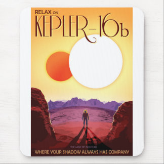 La future affiche de voyage de la NASA - détendez Tapis De Souris