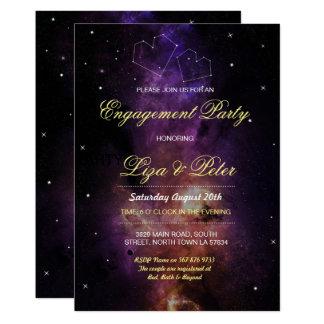 La galaxie tient le premier rôle l'invitation de carton d'invitation  12,7 cm x 17,78 cm
