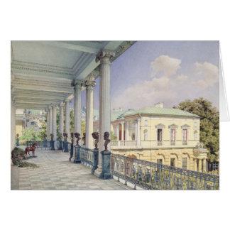 La galerie de Cameron chez Tsarskoye Selo, 1859 Carte De Vœux