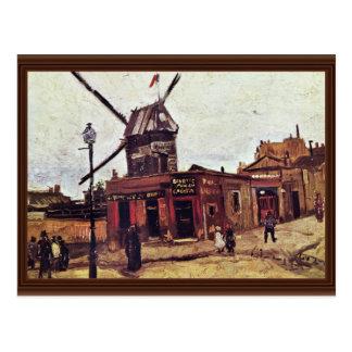La Galette de Le Moulin De par Vincent van Gogh Carte Postale