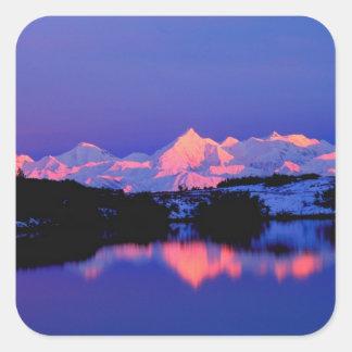 La gamme d'Alaska est à côté de Mt. Denali, Sticker Carré