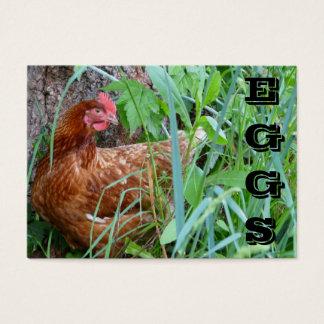 La gamme libre EGGS le carte de visite de poulet