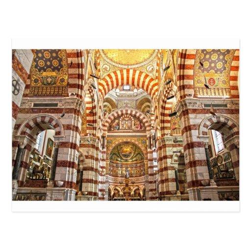 La garde de Notre Dame De de cathédrale à Marseill Cartes Postales