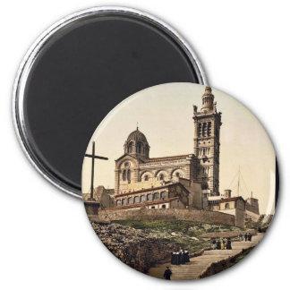 La Garde I, classe de Notre Dame De de Marseille,  Magnet Rond 8 Cm